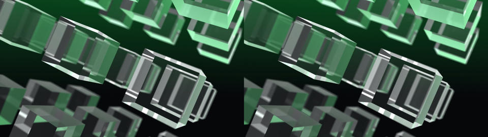 3x3 cubes - Stereo 3D Animation