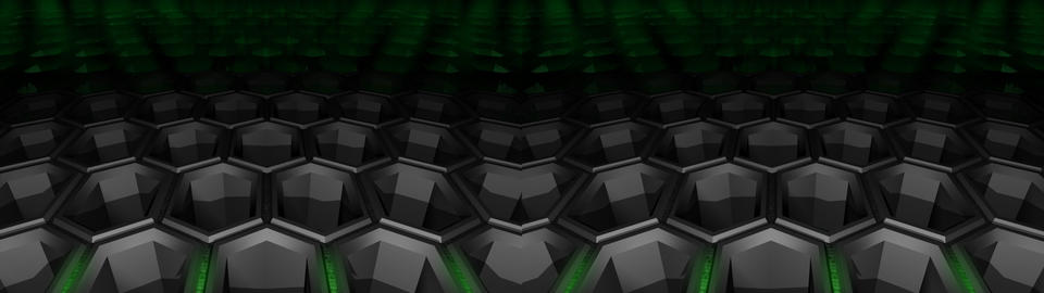 Hexagon background - Stereo 3D Stock Video Footage