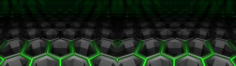 Hexagon background - Stereo 3D Animation