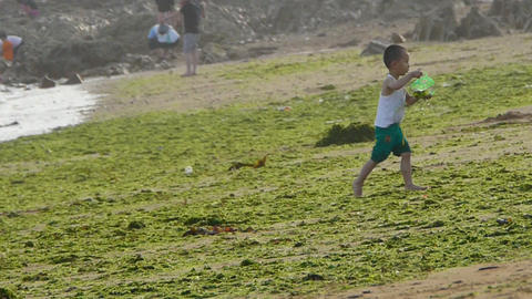 Child little boy play at... Stock Video Footage