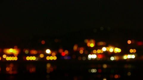 Shaking star lighting at night Stock Video Footage