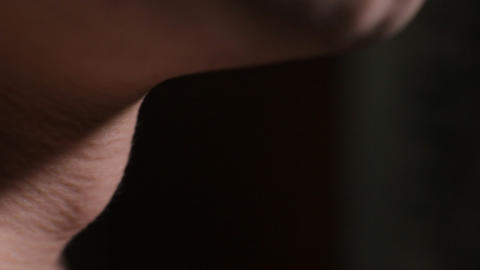 gulp close up Stock Video Footage