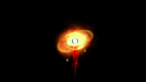eye of god seeing the world & explosion blood,power... Stock Video Footage