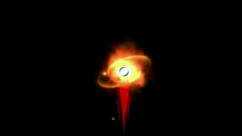 god's eye seeing the world & explosion blood,power... Stock Video Footage