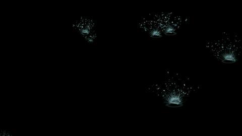 waterdrop & ripple in pond,splash geyser Stock Video Footage