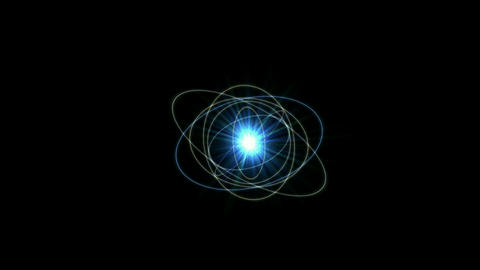 whirl roman number & rays light,tech time data,energy... Stock Video Footage