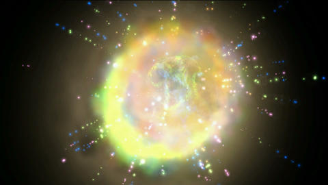 fusion quantum energy field & universe explosion with... Stock Video Footage