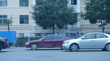 Urban town busy road traffic,China Chinese people Footage