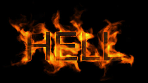 hell,fire word Stock Video Footage