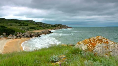 timelapse. landscape generals beaches Stock Video Footage
