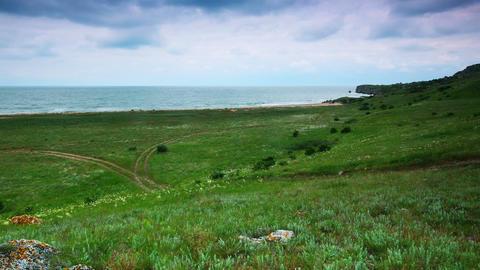 timelapse. coast of the Kerch Peninsula Stock Video Footage
