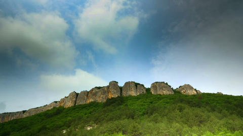 time lapse. Mountains, sky, Crimea Stock Video Footage