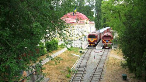 time lapse children's railway Stock Video Footage