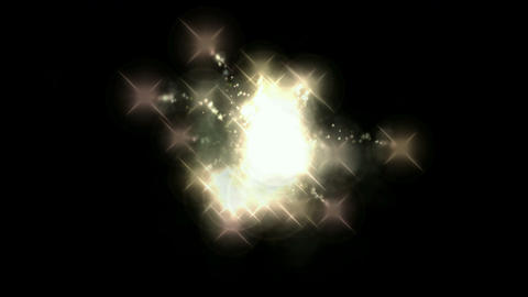 explosion fireworks & white particles at night Stock Video Footage