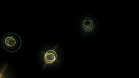 shine stars & light circle at night,disco ray... Stock Video Footage