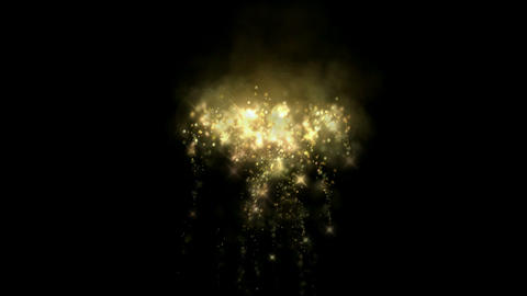 golden fireworks & falling stars particles as holiday... Stock Video Footage
