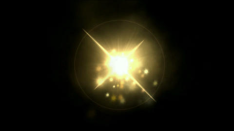 fire ball & explosion particles,stars Stock Video Footage