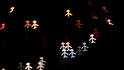 Night traffic Bokeh Bokeh from car light on the traffic road Women and man 2 Live Action