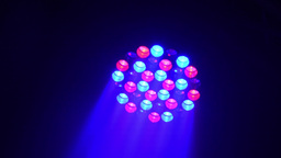 The flashing light at the disco - stage light Footage