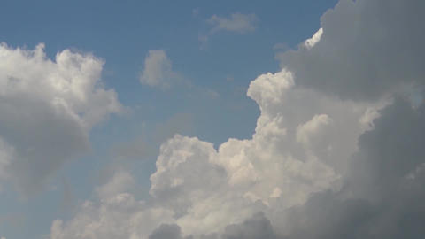 Chaotic Motion Of Clouds At Sunset 2 stock footage