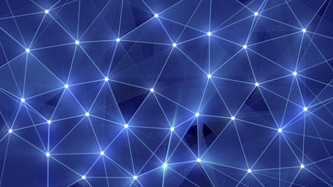 blue glow polygonal background loopable 4k (4096x2304) Animation
