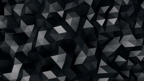 Black Polygonal Surface 3D Render Seamless Loop 4k (4096x2304) stock footage