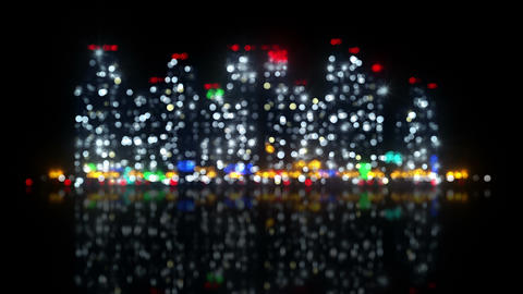 big night city out of focus loopable animation 4k (4096x2304) Animation