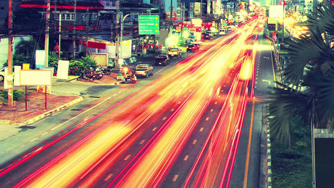 long exposure traffic beams of light timelapse Footage