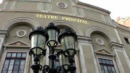 Spain Barcelona 019 theater in La Rambla Teatre Principal Footage