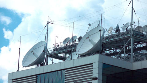 Time lapse video of television broadcasting station in 4K Footage