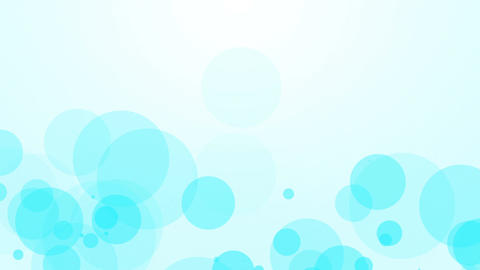 fllying blue bubbles abstract background Animation