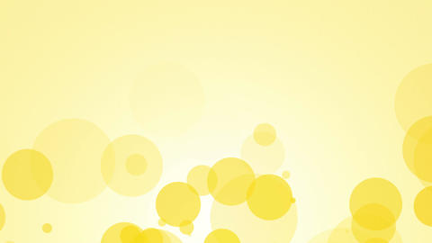 fllying yellow bubbles abstract background Animation