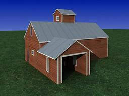 Old House Feed mild build 3D Modell