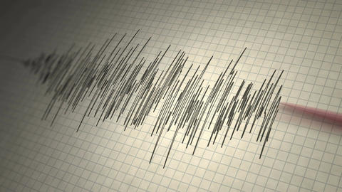 Earthquake Seismograph Loop Footage