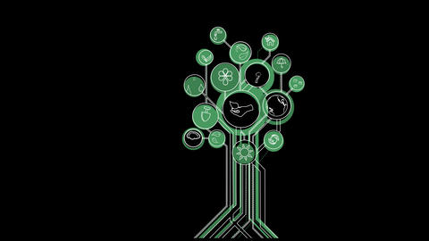 Ecological Icons Trees Animation