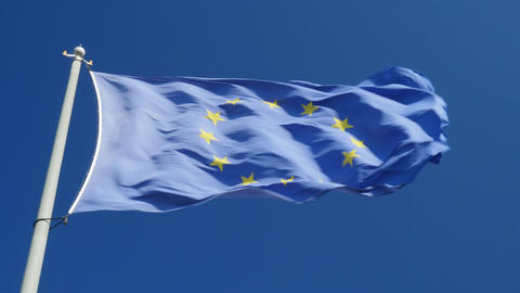 The European Union (EU) Flag Footage