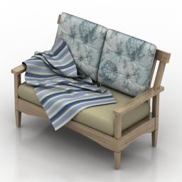 Sofa 2 3D Modell