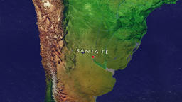 Santa Fe - Argentina zoom in from space Animation
