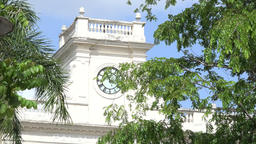 Zoom out from Colonial Clock Tower, Santa Clara, Villa Clara, Cuba Footage