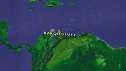 Barquisimeto - Venezuela zoom in from space Animation