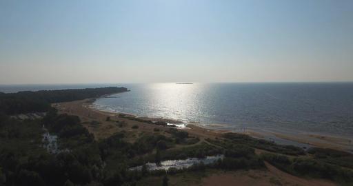 Beautiful Beach With Blue Sea Footage