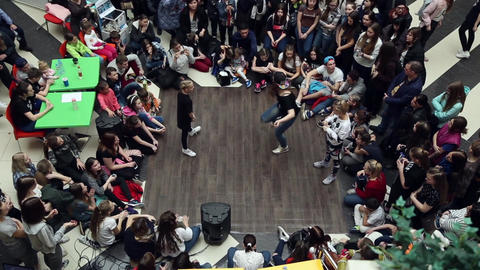 Battles for hip hop dance, breakdancing Footage