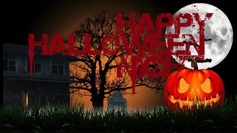 Happy halloween Apple Motion Template