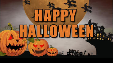 Happy Halloween cartoons Plantilla de Apple Motion