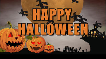 Happy Halloween cartoons Apple Motion Template