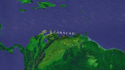 Caracas - Venezuela zoom in from space Animation