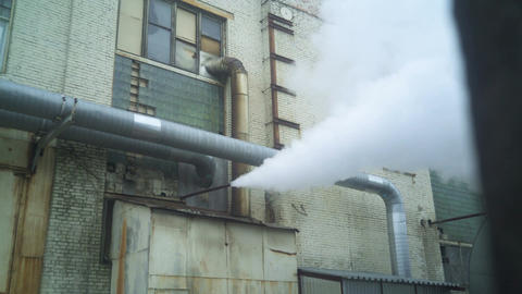 Steam Blowing Out Of Pipe Footage