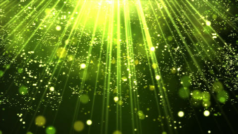 Shining Lights and Particles - Loop Lime Yellow Animation