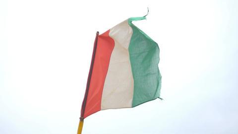 Video of italian flag in 4K Filmmaterial