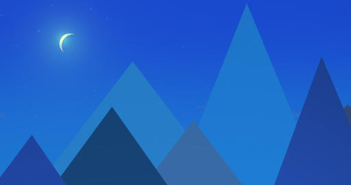 Flatland Backgrounds - Pyramids NIGHT Animation